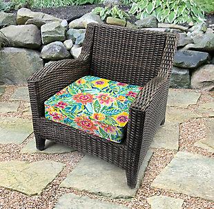 Jordan Manufacturing Outdoor Boxed Edge Deep Seat Cushion, Pensacola, rollover