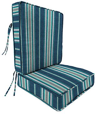 Jordan Manufacturing Outdoor Attached Deep Seat Chair Cushion (Set of 2), , large