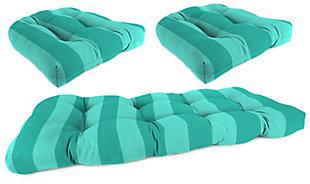 Jordan Manufacturing Outdoor Wicker Set (Set of 3), Preview Stripe Lagoon, large