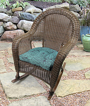 """Jordan Manufacturing Outdoor 18"""" Wicker Chair Cushions (Set of 2), , rollover"""