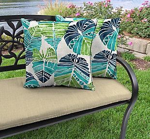 "Jordan Manufacturing Outdoor 18"" Accessory Throw Pillows (Set of 2), Hixon Caribe, rollover"