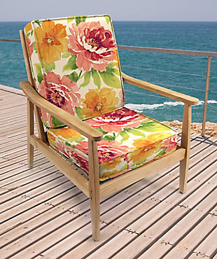 Jordan Manufacturing Outdoor Attached Deep Seat Chair Cushion (Set of 2), , rollover