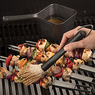 Cuisinart Outdoor Cast Iron Basting Pot and Brush Set, , rollover