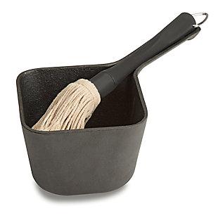 Cuisinart Outdoor Cast Iron Basting Pot and Brush Set, , large