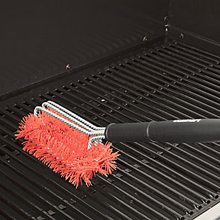 Cuisinart 3-in-1 Triple-Threat Nylon Bristle Grill Brush for Cleaning Cold Grill Grates, , rollover