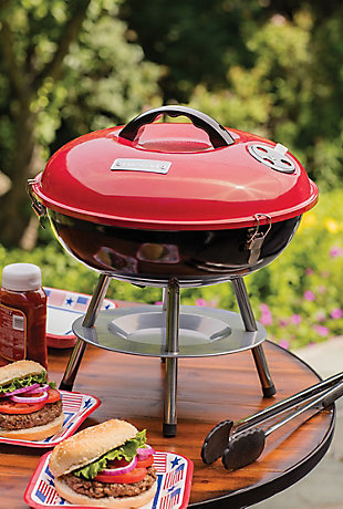 """Cuisinart 14"""" Outdoor Portable Charcoal Grill, , rollover"""