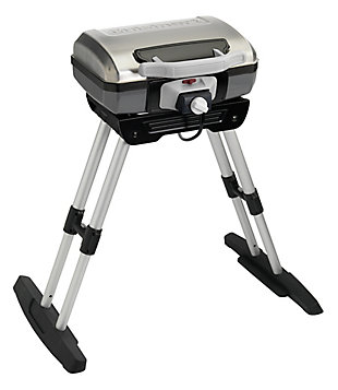 Cuisinart Outdoor Portable Electric Grill with VersaStand Integrated Adjustable Telescoping Base, , large