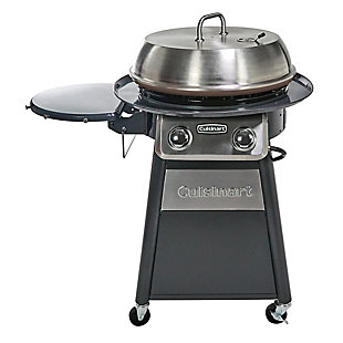 """Cuisinart 22"""" Outdoor  Diameter Deluxe Outdoor Griddle Cooking Center with 1 Folding Prep Table and Paper Towel Hold, , large"""