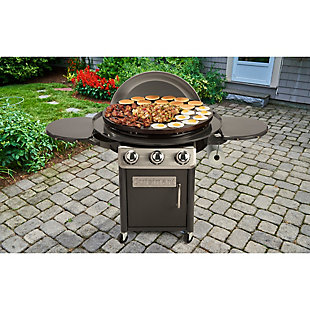 """Cuisinart 30"""" Outdoor Deluxe Griddle Cooking Center with 2 Folding Prep Tables and 1 Paper Towel Holder, , rollover"""