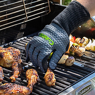 Cuisinart Outdoor Full Coverage Heat Resistant Grill Gloves, , rollover