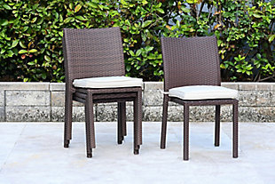 International Home Miami 4-Piece Outdoor Side chairs with Cushions, , rollover