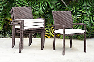 International Home Miami 4-Piece Outdoor Armchairs with Cushions, , rollover