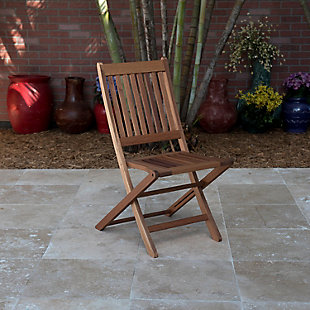 International Home Miami 2-Piece Wood Folding Chairs, , rollover