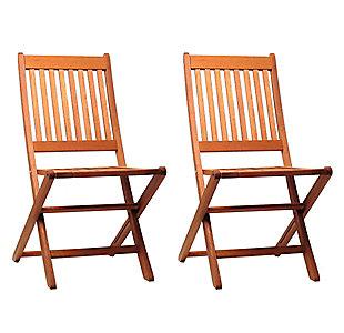 International Home Miami 2-Piece Wood Folding Chairs, , large