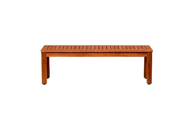 International Home Miami Wood Patio Bench, , large