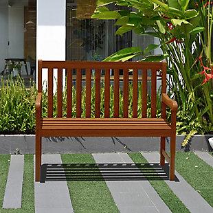 International Home Miami Outdoor Patio Bench, , rollover