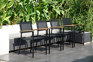 International Home Miami 4-Piece Outdoor Armchairs, , rollover
