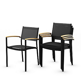 International Home Miami 4-Piece Outdoor Armchairs, , large
