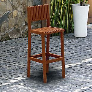 International Home Miami Outdoor Patio Barstool, , rollover
