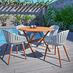International Home Miami Outdoor Patio Dining Table, , rollover