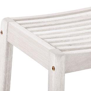 CorLiving  Miramar Outdoor Bar Stool ( Set of 2), White, large