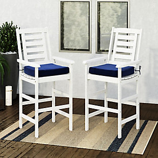 CorLiving  Miramar Outdoor Bar Height Chairs (Set of 2), , rollover