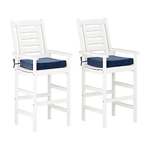 CorLiving  Miramar Outdoor Bar Height Chairs (Set of 2), , large