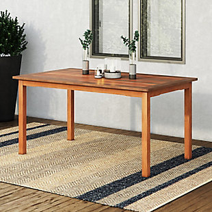 CorLiving  Miramar Outdoor Dining Table, Brown, rollover