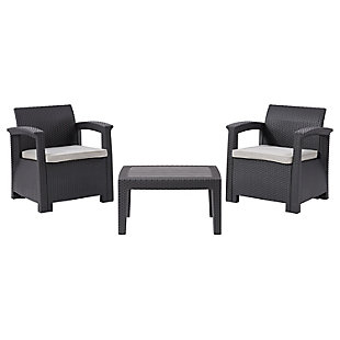 CorLiving  Lake Front 3-Piece Outdoor Patio Chair Set, , large