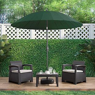 CorLiving  Outdoor Garden Parasol Patio Umbrella, Dark Green, rollover