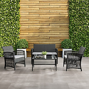 CorLiving  Parksville 4-Piece Outdoor Flared Sofa Set, , rollover