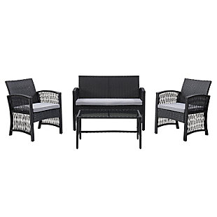 CorLiving  Parksville 4-Piece Outdoor Flared Sofa Set, , large