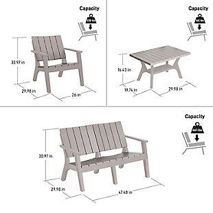 Dukap Enzo 4-Piece Outdoor Patio Sofa Set, Gray, large