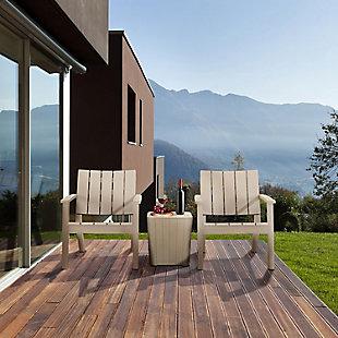 Dukap Enzo 3-Piece Outdoor Patio Seating Set, Gray, rollover