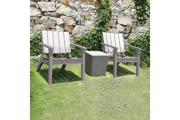 Dukap Enzo 3-Piece Outdoor Patio Seating Set, Gray, large