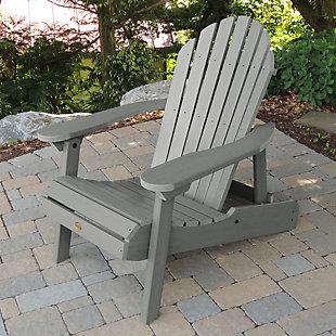 Highwood® Hamilton Outdoor Folding and Reclining Adirondack Chair, Coastal Teak, rollover
