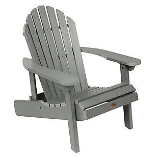 Highwood® Hamilton Outdoor Folding and Reclining Adirondack Chair, Coastal Teak, large