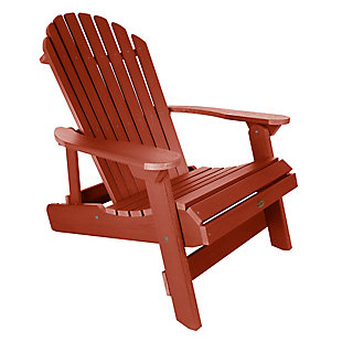 Highwood® King Hamilton Outdoor Folding and Reclining Adirondack Chair, Rustic Red, large