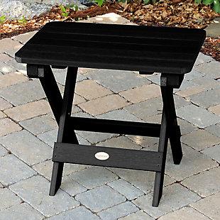 Highwood® Outdoor Folding Adirondack Side Table, Black, rollover