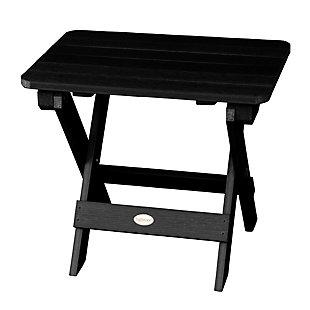 Highwood® Outdoor Folding Adirondack Side Table, Black, large