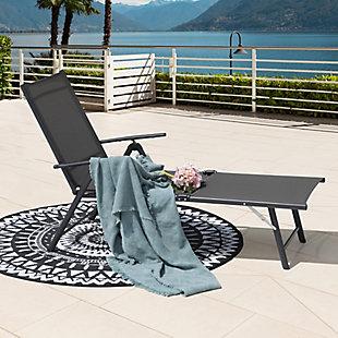 Nuu Garden  Outdoor Textilene Chaise Lounger, , rollover