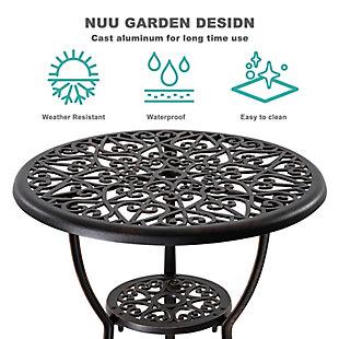Nuu Garden  3-Piece Outdoor Patio Bistro Set, , large