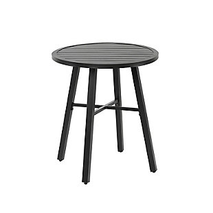Nuu Garden  Outdoor Patio Slatted Round Coffee Table, , large