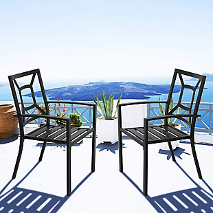 Nuu Garden  Outdoor Stackable Chairs (Set of 2), , rollover