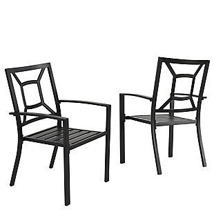 Nuu Garden  Outdoor Stackable Chairs (Set of 2), , large