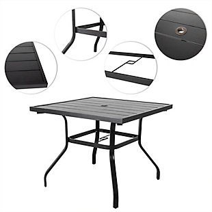Nuu Garden  Outdoor Square Dining Table, , large