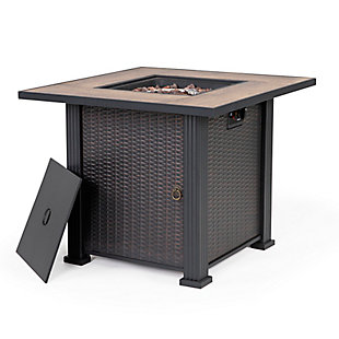 """Nuu Garden 30"""" Outdoor Steel Fire Pit Table, , large"""