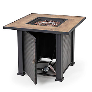 """Nuu Garden 30"""" Outdoor Steel Fire Pit Table with Cover, , large"""