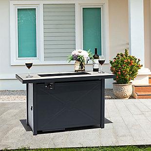Nuu Garden Outdoor Steel Propane Fire Pit Table, , rollover