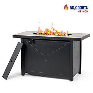 Nuu Garden Outdoor Steel Propane Fire Pit Table, , large